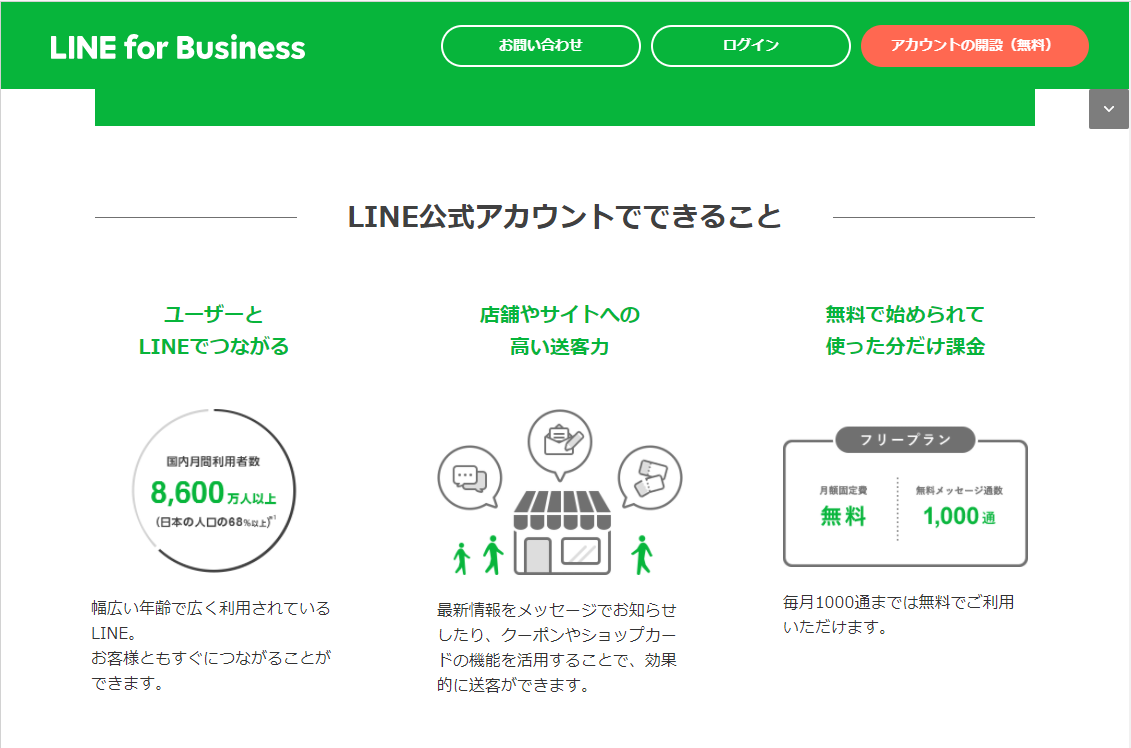 Shopify LINE公式アカウント