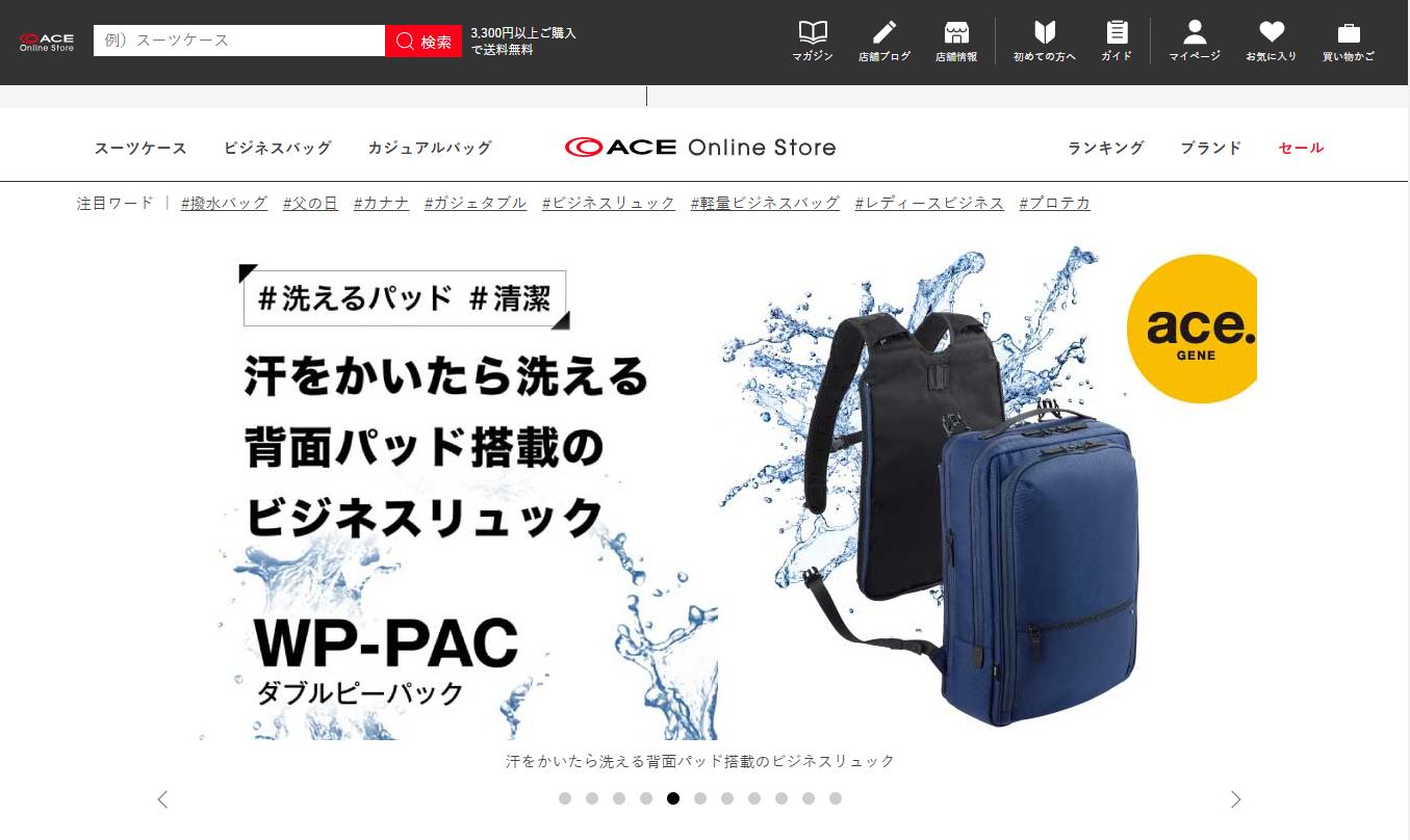 shopify 動画 成功事例 ACE Online Store